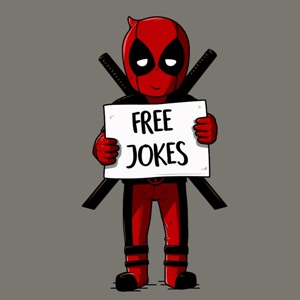 dessin t-shirt Deadpool Free hugs geek original