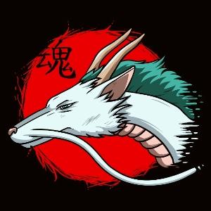 dessin t-shirt Haku dragon geek original