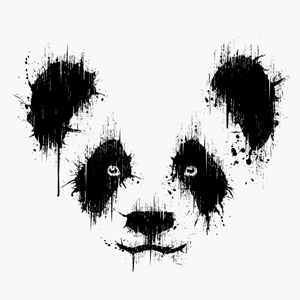 panda dessin animaux peinture sur tee shirt bio. Black Bedroom Furniture Sets. Home Design Ideas