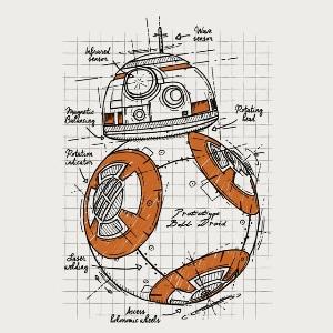dessin t-shirt BB8 – croquis geek original