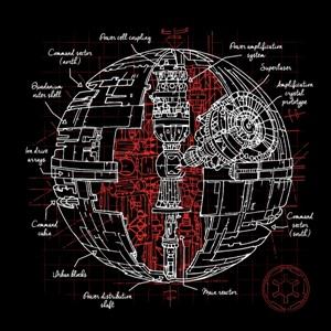 dessin t-shirt L'étoile de la mort concept geek original