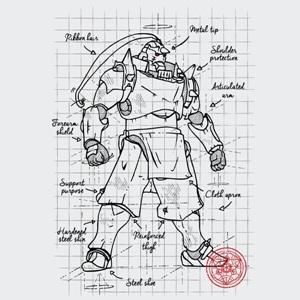 dessin t-shirt Fullmetal plan geek original
