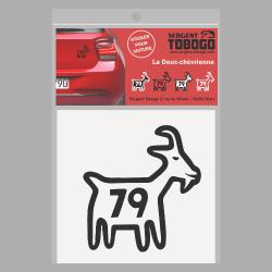 t-shirt Sticker Chèvre noire