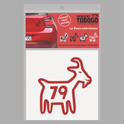 t-shirt Sticker Chèvre rouge