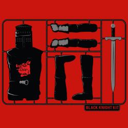 t-shirt Chevalier noir en Kit