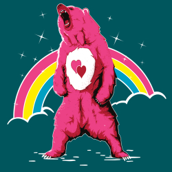 t-shirt Un ours Bisounours