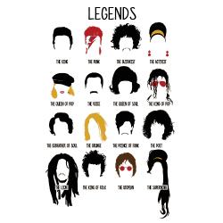 t-shirt Les légendes de la musique