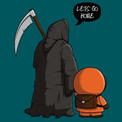 t-shirt Kenny et la mort