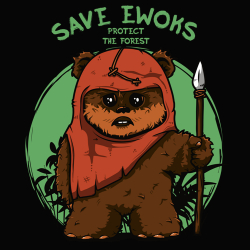 t-shirt Sauvez les Ewoks