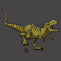 Tyrannosaure en souffrance